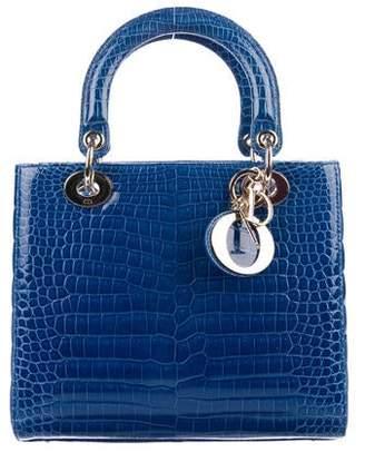 b182ebaa880 Christian Dior 2018 Crocodile Medium Lady Bag