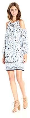 Max Studio Women's Cold Shoulder Woven Dress