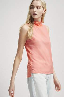 French Connection Crepe Light Mock Neck Top