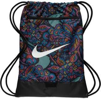 Nike Brasilia Training Printed Gym Drawstring Backpack