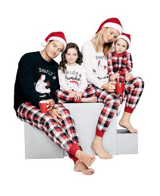 Baonmy Christmas Family Matching Pajamas Red Plaid Sleepwear Set (, 0-3M)