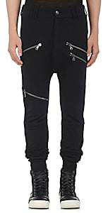Pierre Balmain MEN'S COTTON-BLEND MOTO JOGGER PANTS-BLACK SIZE 54 EU