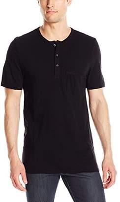 Michael Stars Men's Short Sleeve Linen Jersey Henley