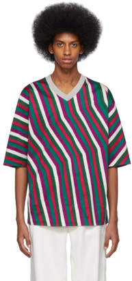 Issey Miyake Grey Dyeing Stripe T-Shirt