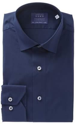 Lorenzo Uomo Solid Extra Trim Dress Shirt
