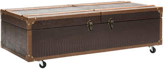 Safavieh Zoe Coffee Table Storage Trunk With Wine Rack