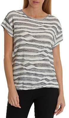 Betty Barclay Fine Knit Stripe Top, Dark Blue/Cream