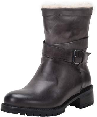 Ross & Snow Genuine Shearling Lined Moto Boot