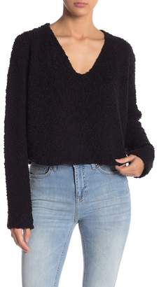 Free People V-Neck Knit Pullover
