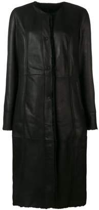 Drome single-breasted biker coat