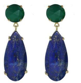 At Tiques Lapis Jaimie Nicole Green Drop Earrings
