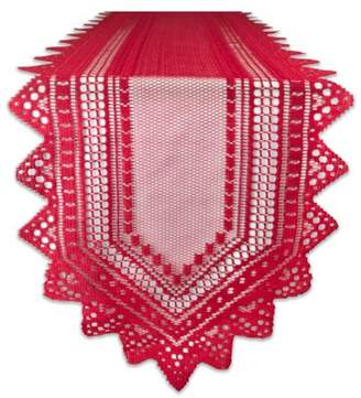 """Nordic Design Imports Lace Tablerunner - Red - 14 X 72"""""""