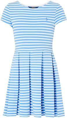 Polo Ralph Lauren Girls Ponte Striped Dress