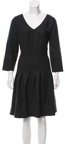 Armani Collezioni Virgin Wool Long Sleeve Dress w/ Tags