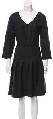 Armani Collezioni Virgin Wool Long Sleeve Dress w/ Tags