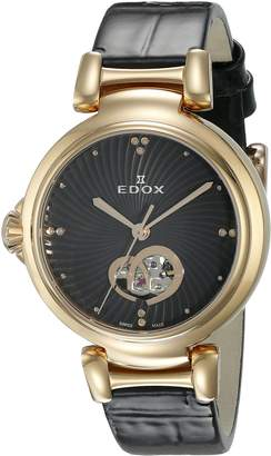 Edox Women's 85025 37RC NIR LaPassion Analog Display Swiss Automatic Watch
