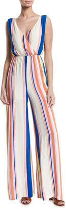 Line And Dot Rory Candy-Striped Wide-Leg Jumpsuit