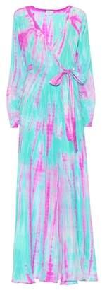 Anna Kosturova Tie-dye silk maxi dress