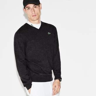 Lacoste Men's SPORT V-Neck Wool Jersey Golf Sweater