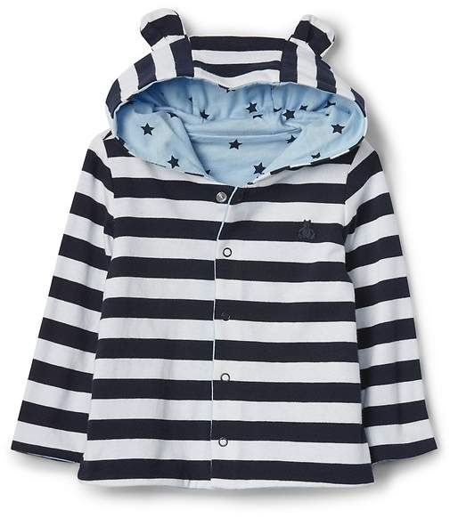 Reversible Print Bear Sweater