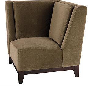 Mia Velvet Corner Chair, Pewter