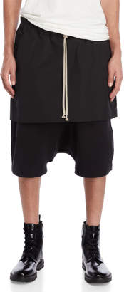 Rick Owens Kilt Drawstring Jogger Shorts