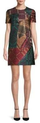 Burberry Multicolored-Print Shift Dress