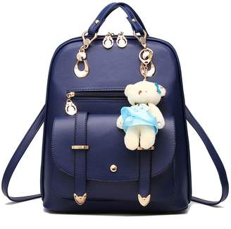 5e6fd7bcc9 Hynbase Hynbse Women s Summer Cute Korean Leather School Student Backpack Shoulder  Bag