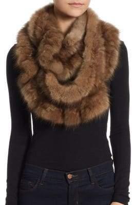 The Fur Salon Sable Fur Infinity Scarf