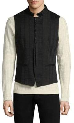 John Varvatos Slim Seamed Vest