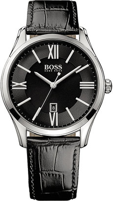 Hugo Boss 1513022 ambassador watch with leather strap $163 thestylecure.com