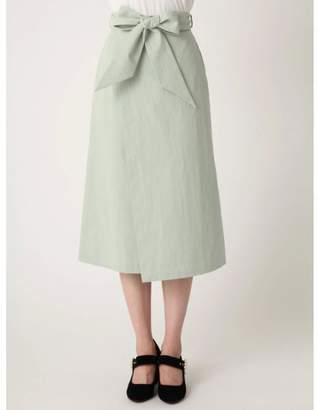 dazzlin (ダズリン) - dazzlin 【non-no8月号掲載】ミディ台形ラップスカート