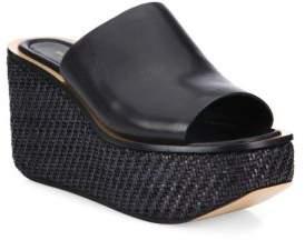 MICHAEL Michael KorsMichael Kors Collection Jane Leather Wedge Platform Mules