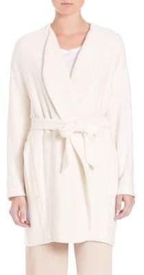 SET Mid-Length Tie Front Jacket