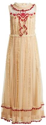RED Valentino Ruffle-trimmed lace dress