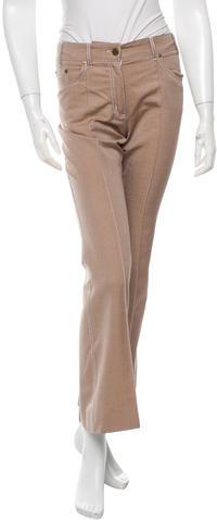 Chloé Chloé Silk-Blend Wide-Leg Pants