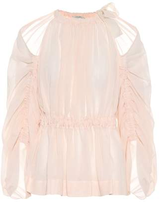 Fendi Cotton voile blouse