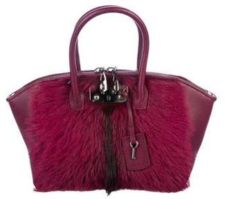 VBH Ponyhair & Leather Brera Bag Magenta Ponyhair & Leather Brera Bag
