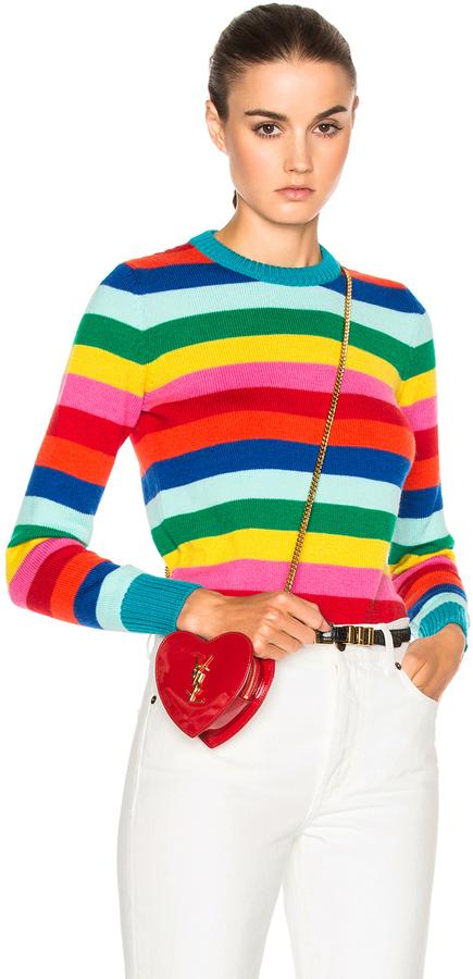 Saint Laurent Rainbow Stripe Sweater