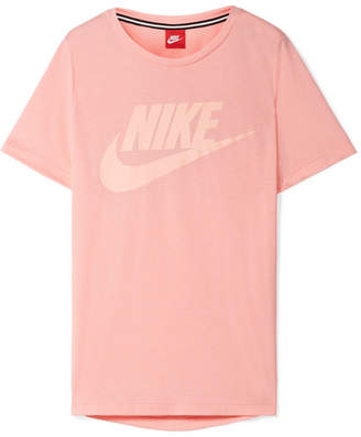 Nike Essential Printed Stretch-jersey T-shirt - Pink