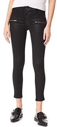 James Jeans Women's Twiggy Skinny Ankle Coated Zipper in Oil Slicked