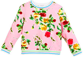 Milly Minis Rose-Print Sweatshirt, Size 8-14