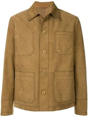 Bottega Veneta classic suede jacket