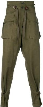 Takahiromiyashita The Soloist drop crotch military trousers