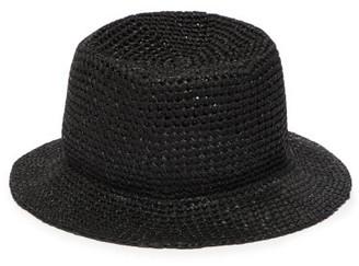 Reinhard Plank Hats - Baby Cotton Macrame Bucket Hat - Womens - Black