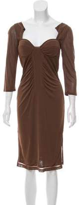 Gucci Long Sleeve Midi Dress