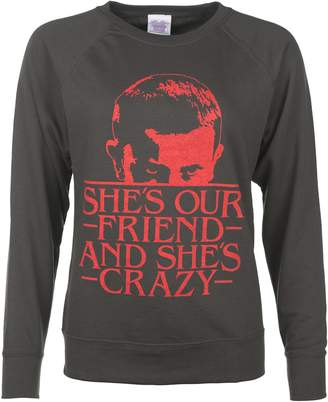 Eleven Paris TruffleShuffle Womens Shes Our Friend Stranger Things Inspired Sweater