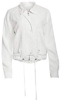 Helmut Lang Women's Utility Parachute Short Trench Jacket