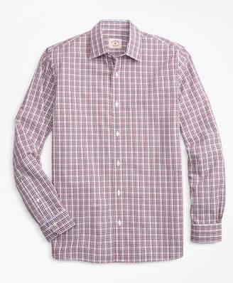 Brooks Brothers Gingham Nine-to-Nine Cotton Poplin Shirt