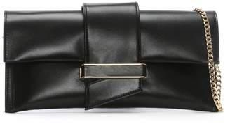 Daniel Alike Black Leather Envelope Clutch Bag